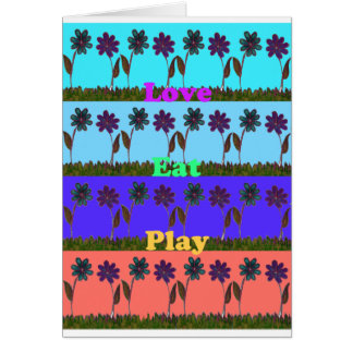 Baby kids love play colors.png greeting card