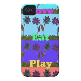 Baby kids love play colors.png iPhone 4 Case-Mate cases