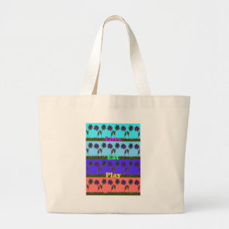 Baby kids love play colors.png large tote bag
