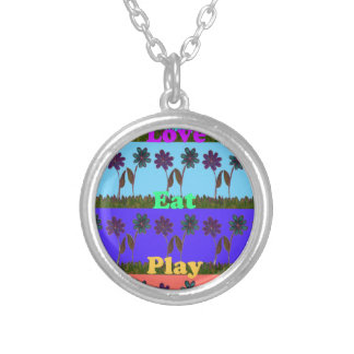 Baby kids love play colors.png round pendant necklace