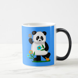 Baby Kids Panda With Flowers 2 Magic Mug
