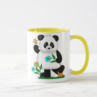 Baby Kids Panda With Flowers 2 Mug