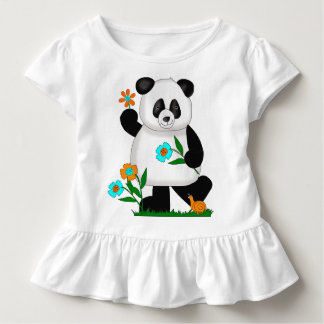Baby Kids Panda With Flowers Toddler T-shirt