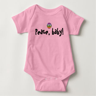 Baby & Kids: Peace, baby! Creeper- girls Baby Bodysuit