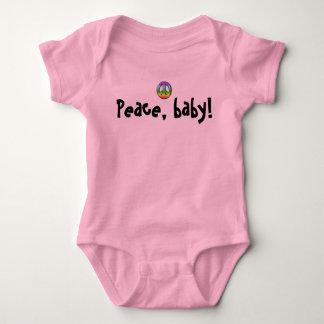 Baby & Kids: Peace, baby! Creeper- girls T-shirt