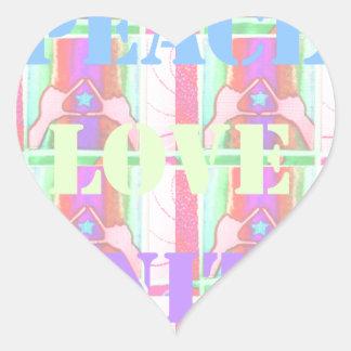 Baby Kids  Peace Love Unity Hakuna Matata design.p Heart Sticker