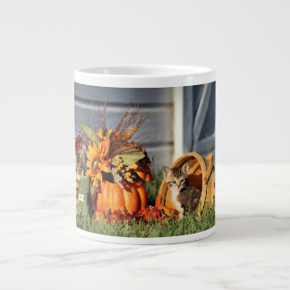 Baby Kittens in Fall Decorations 20 Oz Large Ceramic Coffee Mug