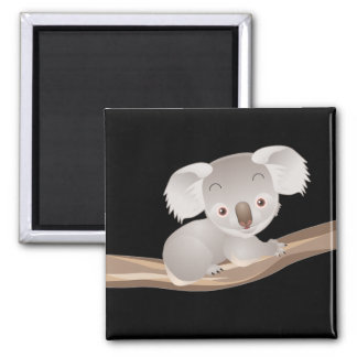 Baby Koala 2 Inch Square Magnet