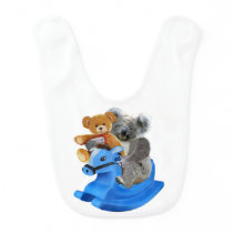 BABY KOALA BEAR DREAMS BABY BIB