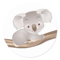 Baby Koala Classic Round Sticker
