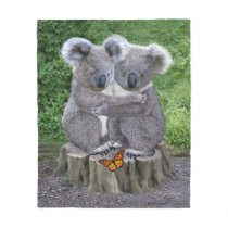 BABY KOALA HUGGIES FLEECE BLANKET