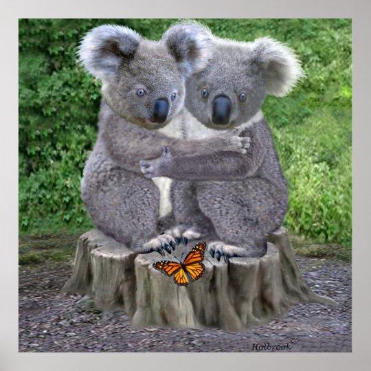 Baby Koala Huggies Poster Zazzle Com