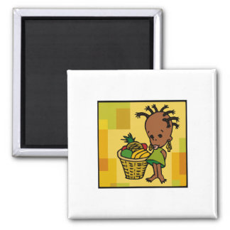 Baby Kwanzaa 2 Inch Square Magnet