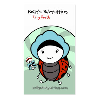 Baby Lady Bug Double-Sided Standard Business Cards (Pack Of 100)