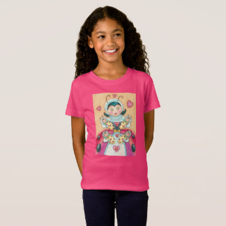 Baby Ladybugs Family GIRL'S T SHIRT Pink