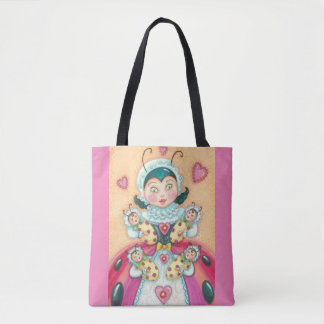 Baby Ladybugs Family TOTE BAG Pink