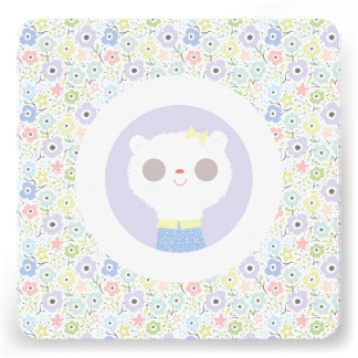 Baby lamb and parma flowers personalized invites