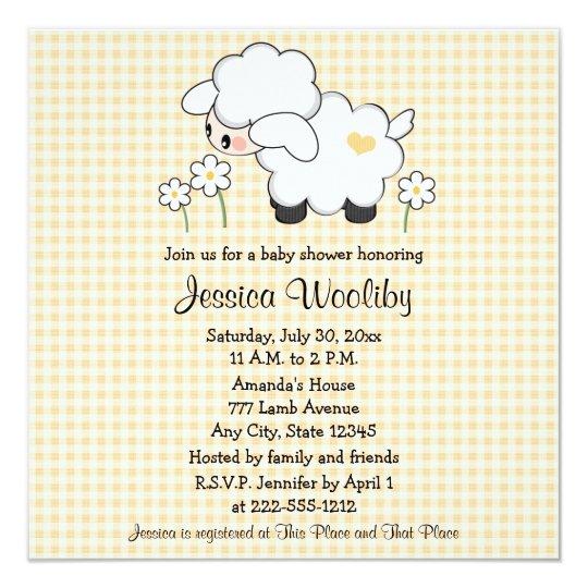 Lamb baby shower invitations templates lamb baptism invitation blue baby lamb baby shower invitations gender neutral zazzlecom filmwisefo Choice Image
