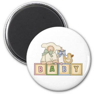 Baby Lamb Blocks Magnet