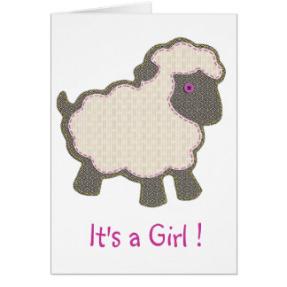 Baby Lamb  It's a Girl Card