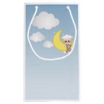 Baby Lamb, Moon and Clouds Small Gift Bag