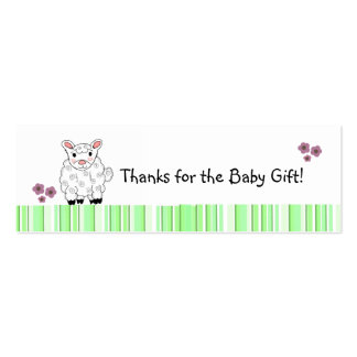 Baby Lamb Thank You Mini Business Card