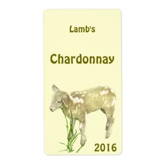 Baby Lamb Yellow Wine Label