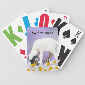 Baby Lambs first steps Bicycle Playing Cards