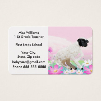Baby Lambs first steps Business Card