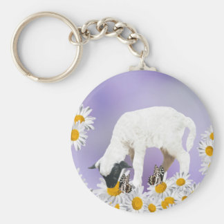 Baby Lambs first steps Keychain