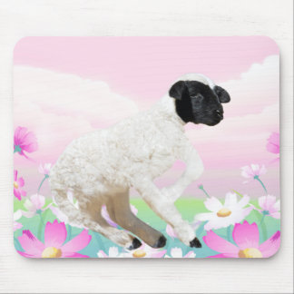 Baby Lambs first steps Mouse Pad