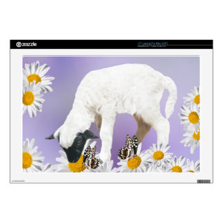 """Baby Lambs first steps 17"""" Laptop Skin"""