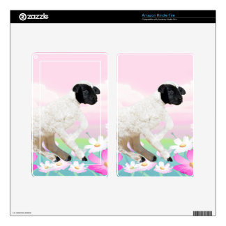 Baby Lambs first steps Kindle Fire Skins