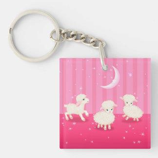 Baby Lambs Keychain