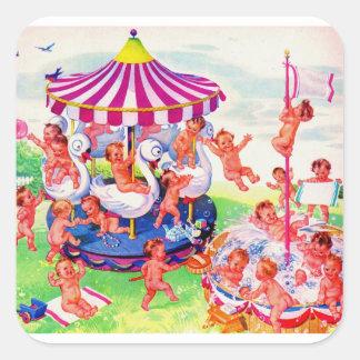 Baby Land Square Sticker