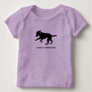 Baby lap shirt playful black lab