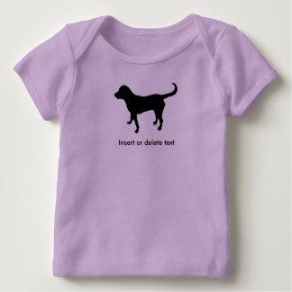 Baby lapshirt black lab silhouette baby T-Shirt