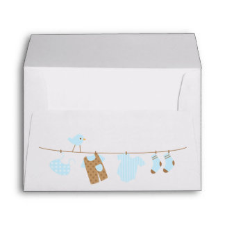 Baby Laundry Baby Shower Envelopes