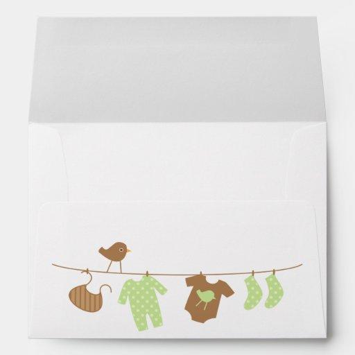 baby laundry baby shower envelopes zazzle