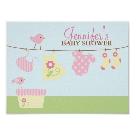 Baby Laundry Baby Shower Welcome Sign Posters