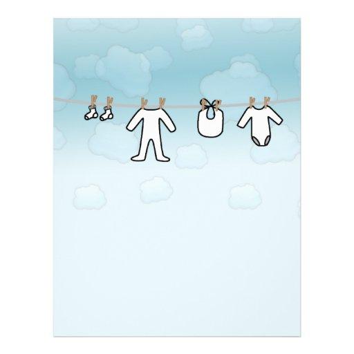 Baby Laundry - Boy Flyer Design