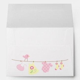 Baby Laundry Girl Baby Shower Envelope