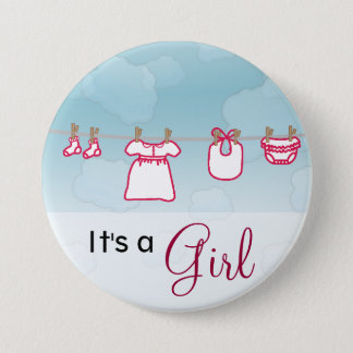 Baby Laundry - Girl Button