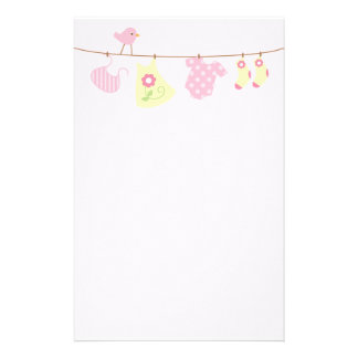 Baby Laundry (pink) Stationery