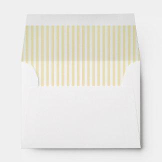 Baby Lemon Striped Lining A6 Envelope
