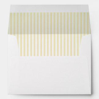 Baby Lemon Striped Lining A7 Envelope