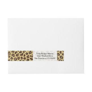 Baby Leopard Spots Wrap Around Address Label
