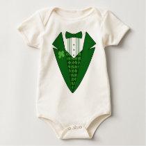 Baby Leprechaun Irish Tuxedo t-shirts