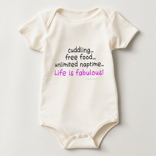 Baby Life is Fabulous Organic Infant Onepiece Baby Bodysuit