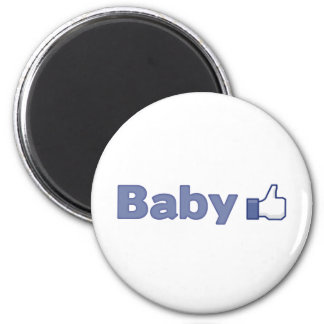 Baby Like 2 Inch Round Magnet